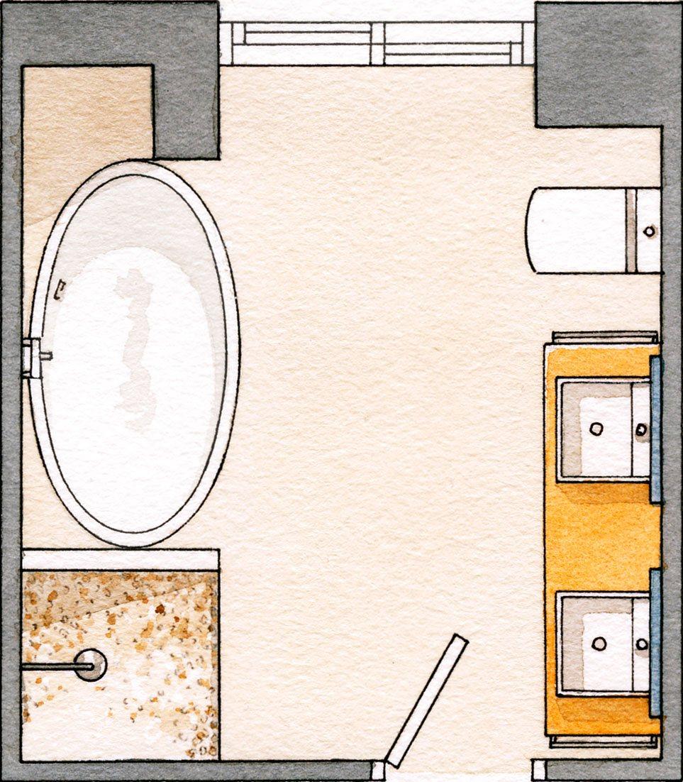 Planos de baos plano de un aseo with planos de baos for Planos de banos gratis