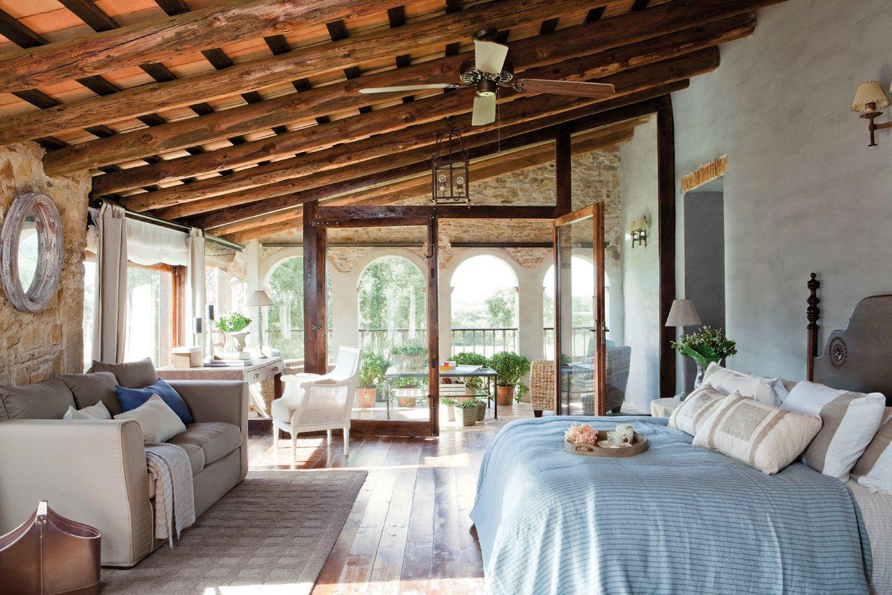 Estrena dormitorio renovando las telas - Cortinas rusticas dormitorio ...