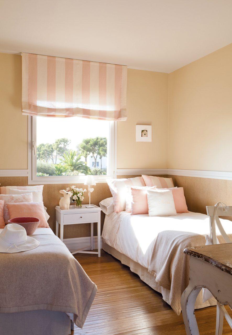 Una casa donde triunfa la comodidad - Dormitorios color rosa ...