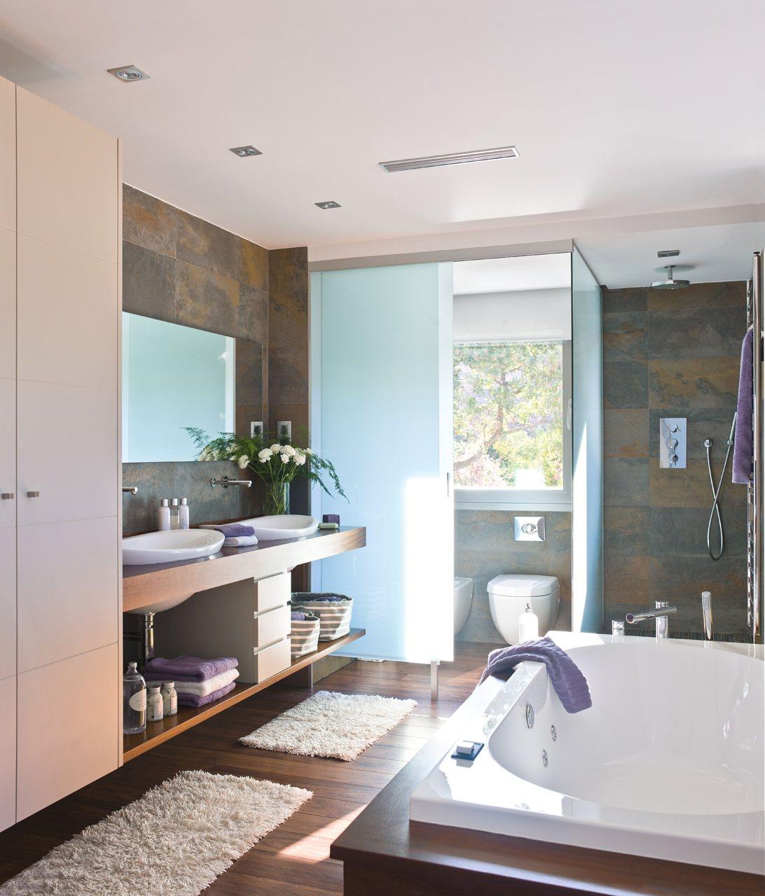 Anterior Un baño abierto tan grande como el dormitorio Un baño  #81604A 1092 1280