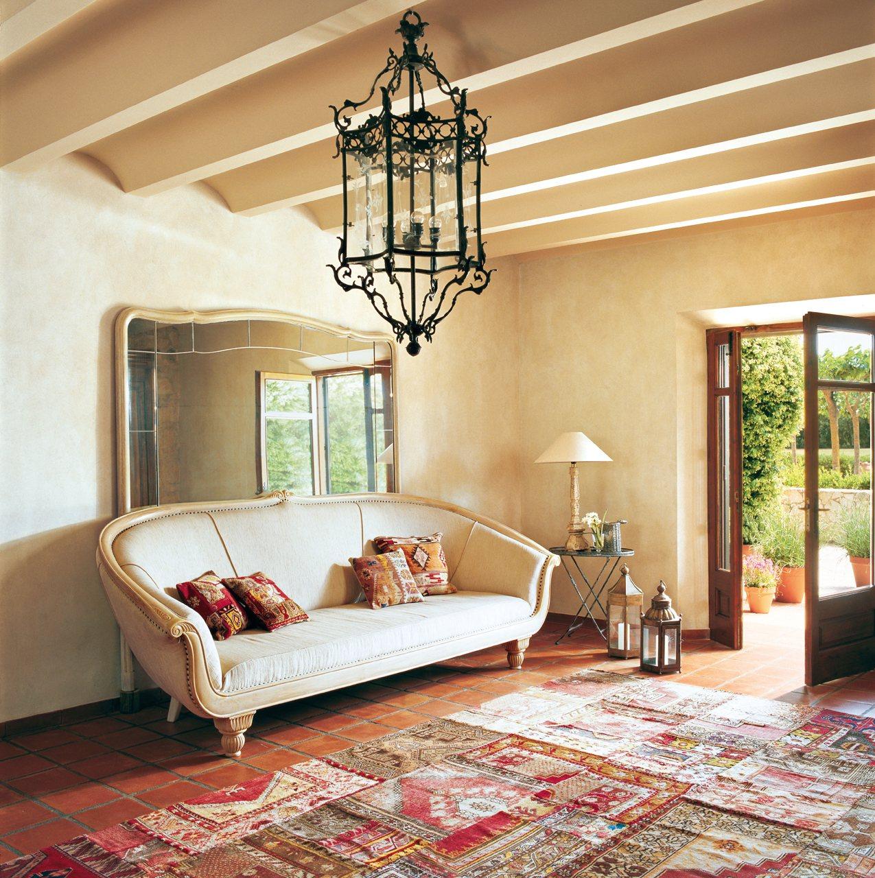 Decora tu casa con espejos son pura magia - Mueble recibidor rustico ...