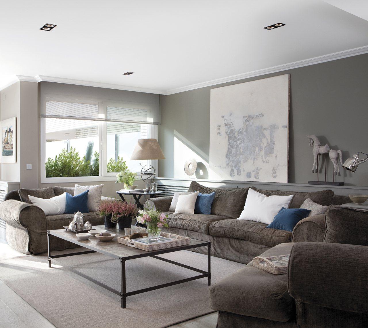 10 pasos para una reforma perfecta Salones en tonos grises