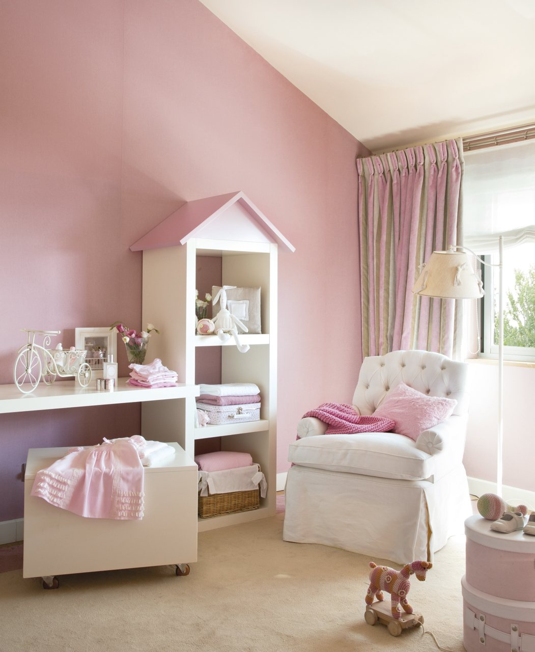 Ideas para mini habitaciones de ni os for Habitacion rosa para chicas
