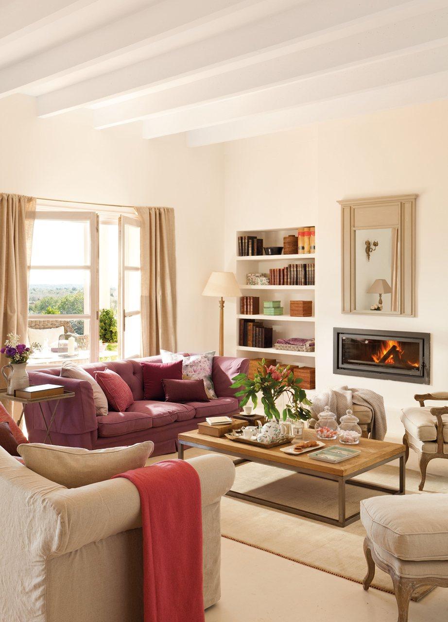 15 salones con chimenea para el invierno - Colores para salones ...