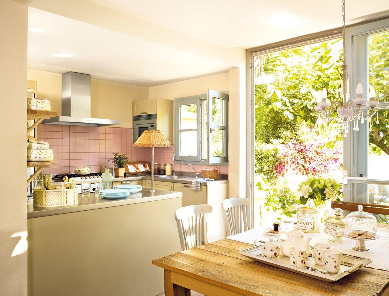Ideas para espacios peque os for Cocina 3 metros pared