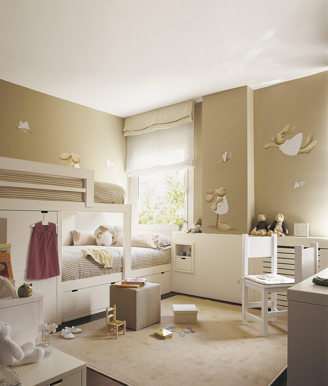 Cinco habitaciones de ni os solucionadas a medida - Habitacion con literas para ninos ...