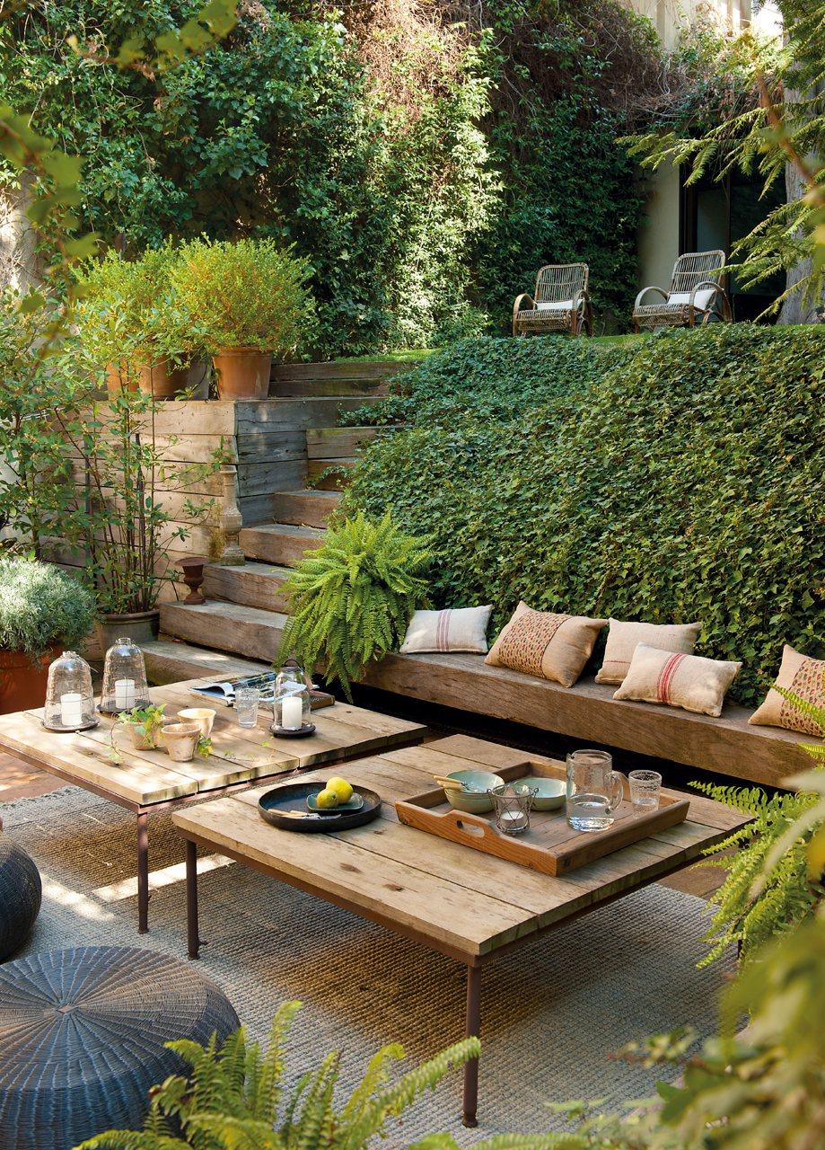 Un Sal N Abierto Al Jard N # Muebles Top Garden