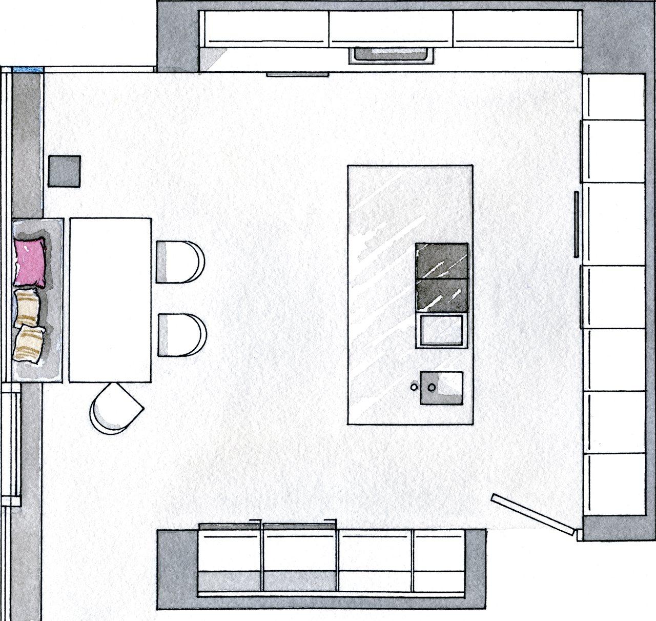 Una cocina de inspiraci n industrial for Disenar plano cocina