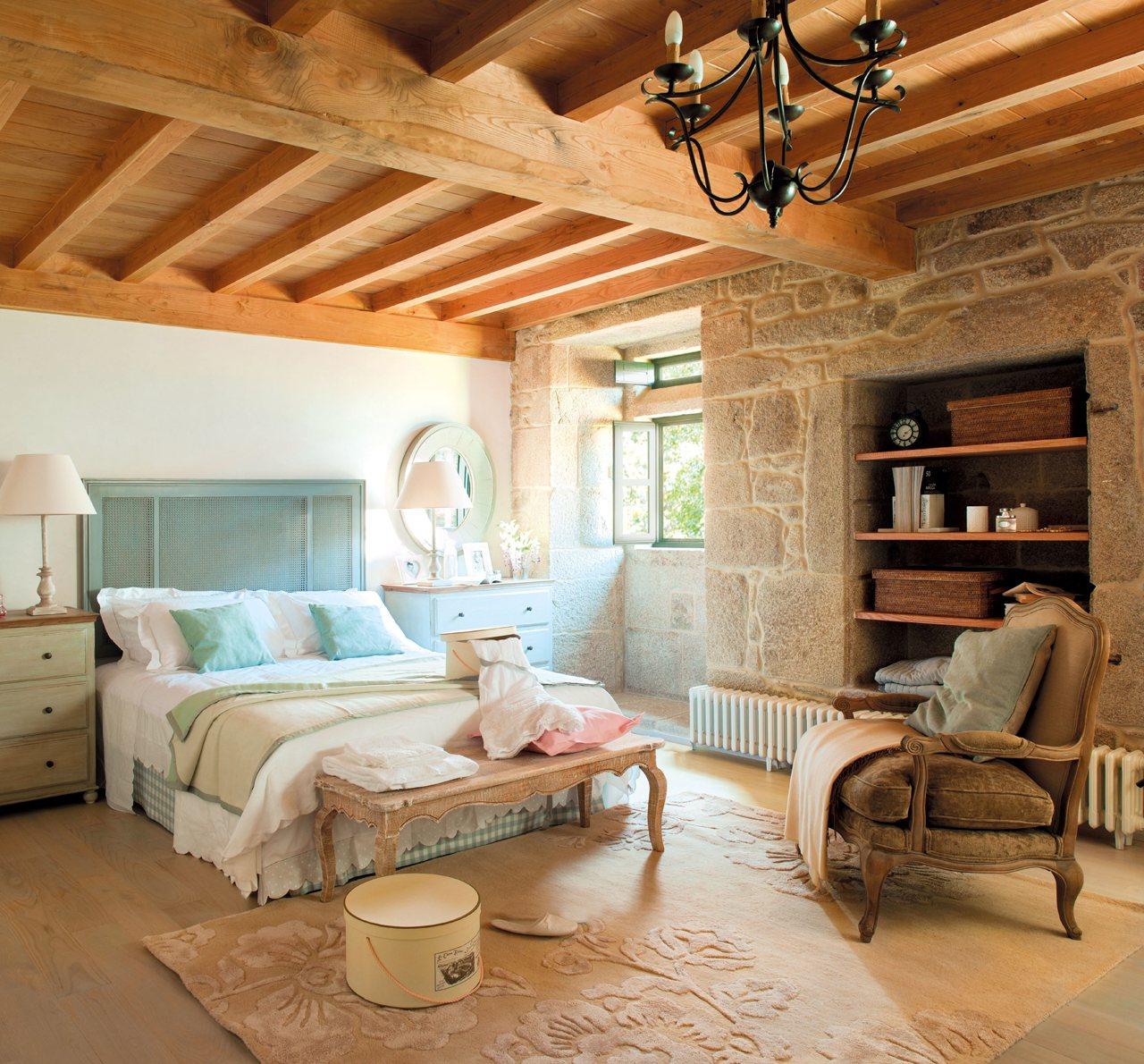 El poder de los peque os detalles for Dormitorio rustico