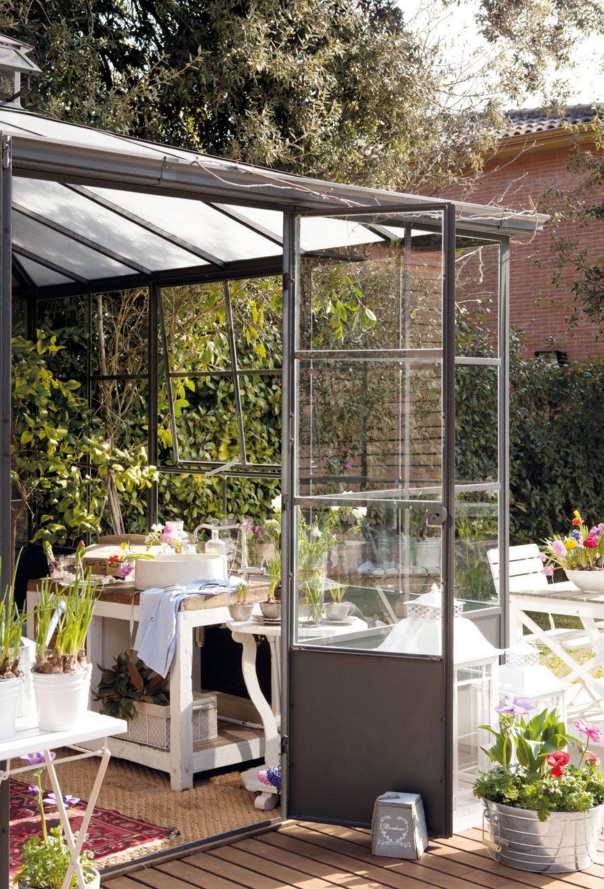 Primavera en el invernadero - Invernadero en terraza ...