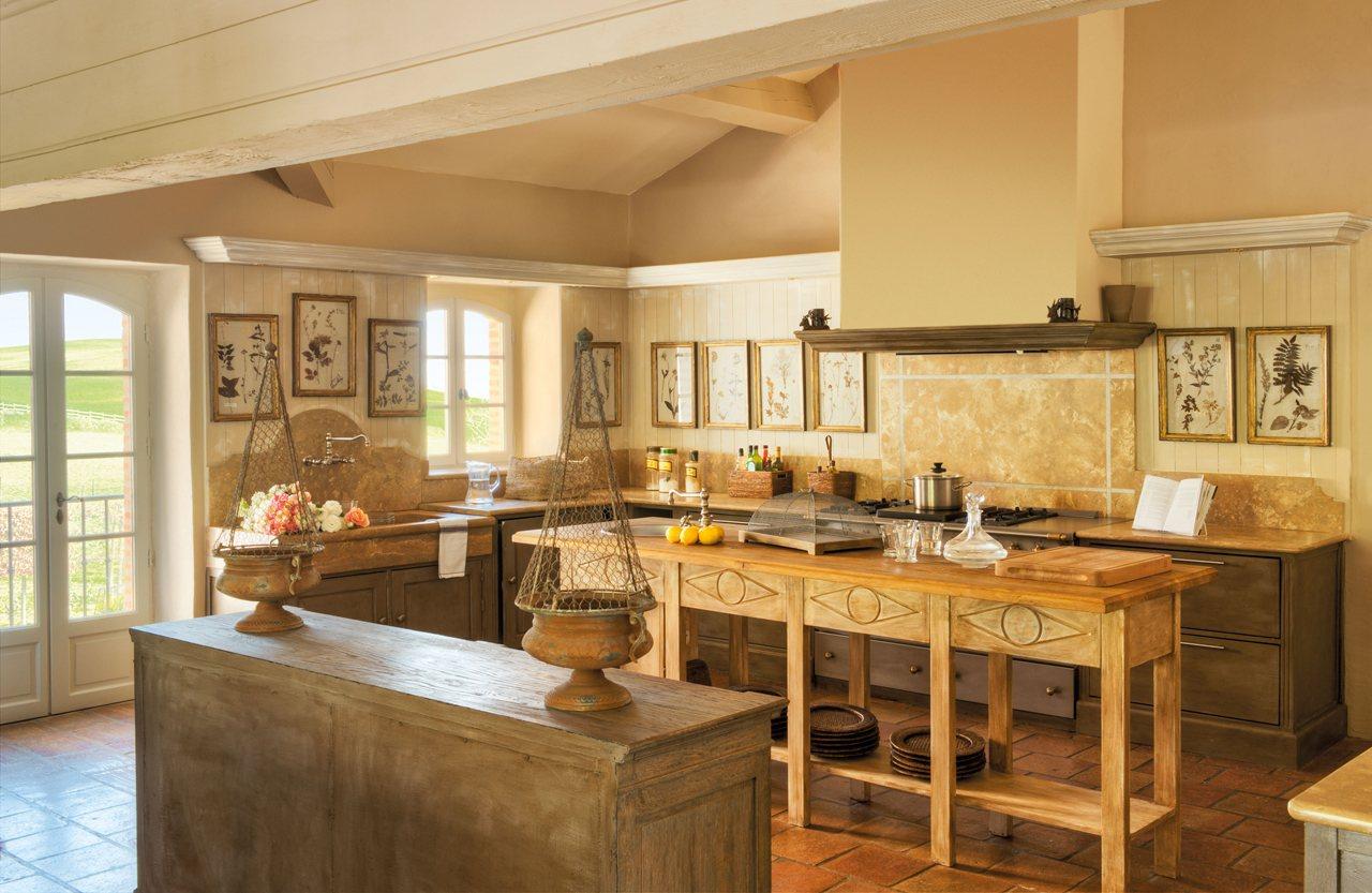 vivir en el campo es un placer On isla de cocina de madera