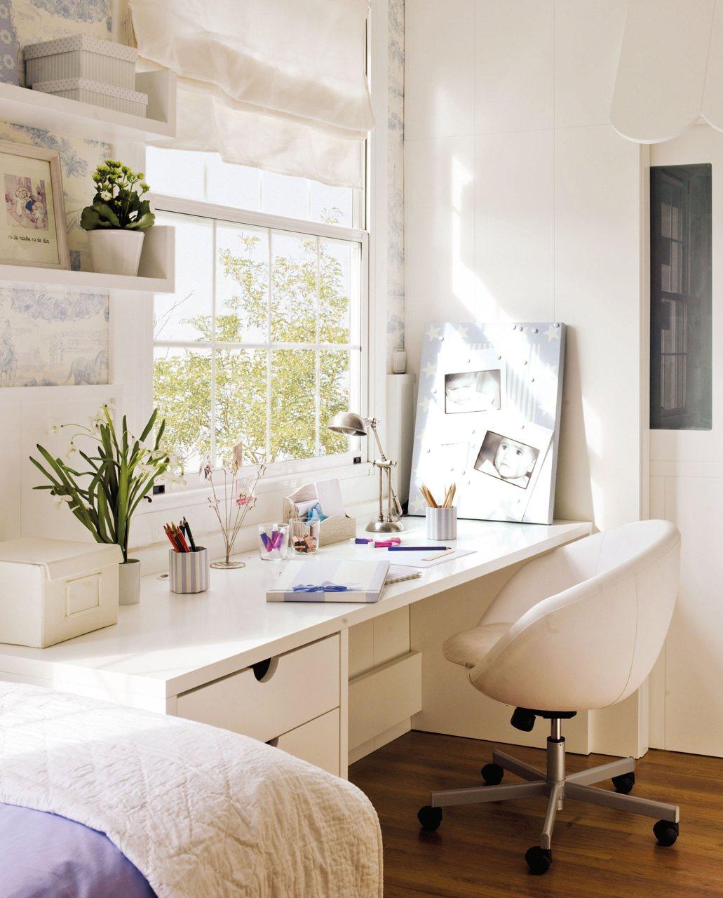 Aprovecha las ventanas y tendr s espacio extra - Mesa de estudio infantil ...