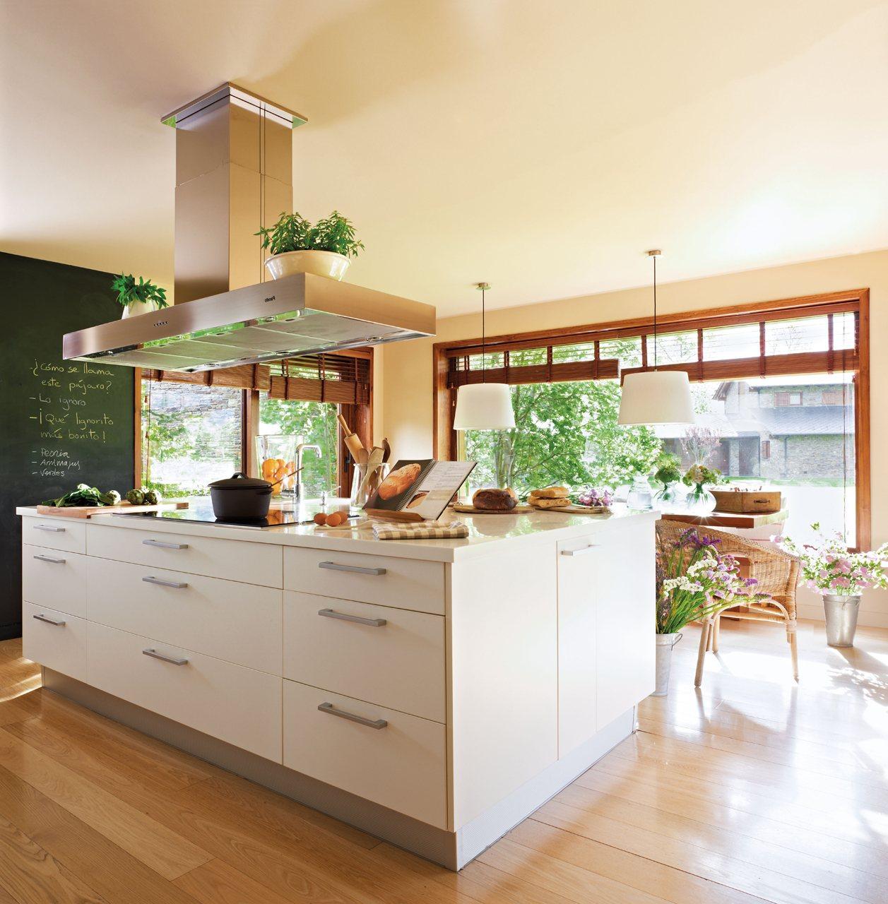 Cocinas decoraci n grandes isla muebles pictures to pin on - Cocina con isla ...