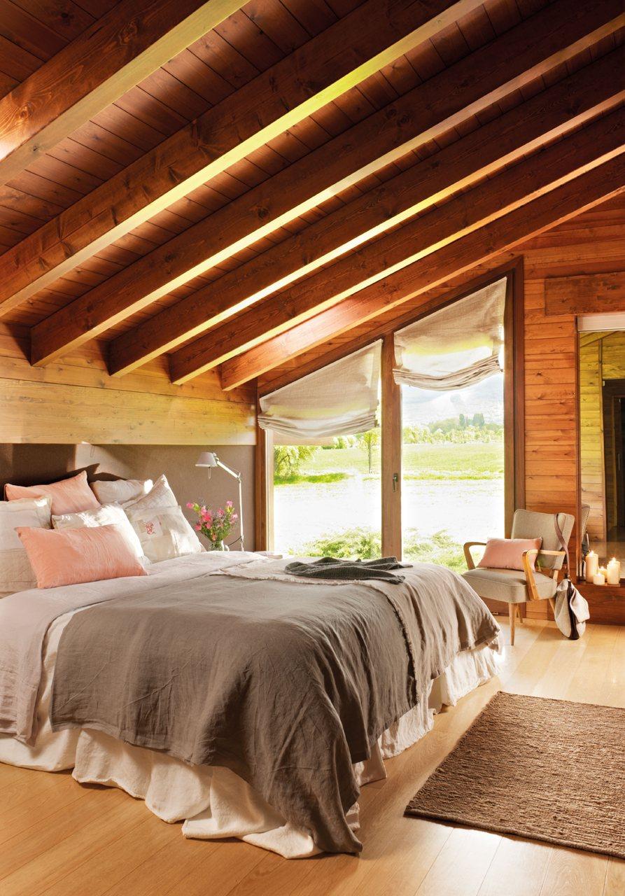 Vivir entre flores en la cerda a - Dormitorio de madera ...