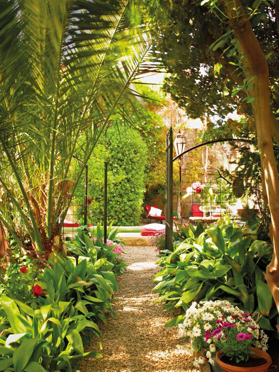 El exuberante jardín mediterráneo de la interiorista María Lladó