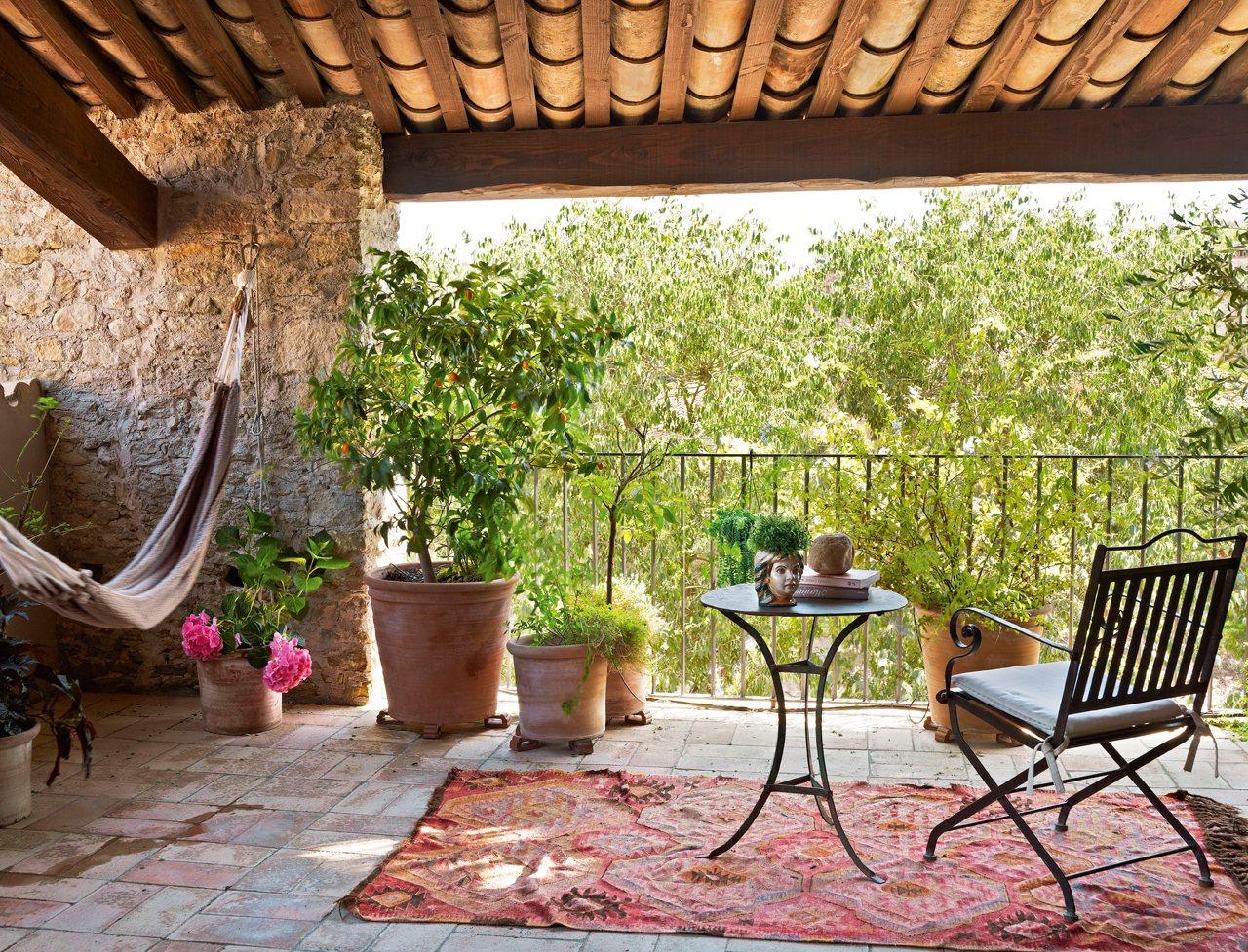 15 formas de aprovechar exteriores peque os for Hamacas para el jardin