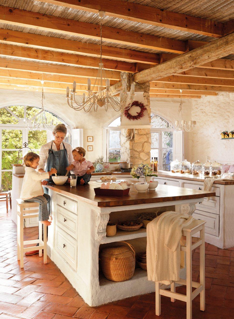 Una casa del siglo xvii rehabilitada for Cocinas de obra
