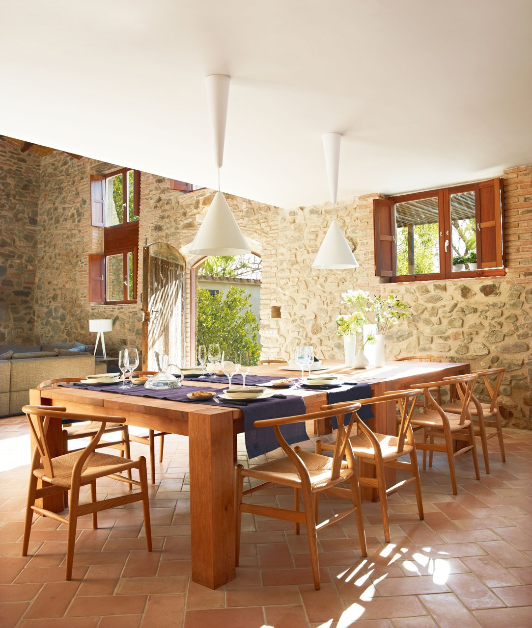 Una cocina rústica actualizada