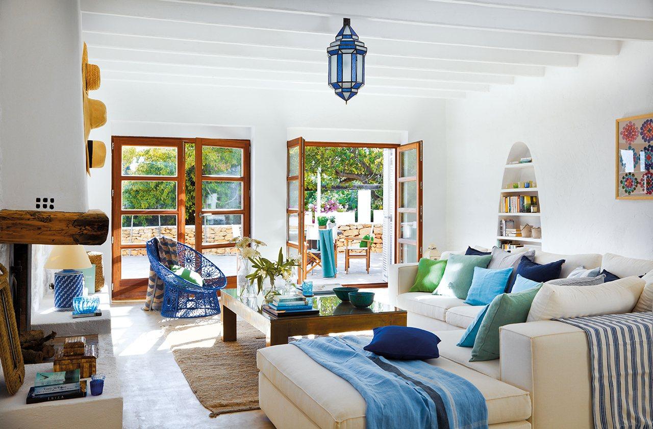 Una Casa De Campo Y Playa En Ibiza - Decoracion-casa-playa