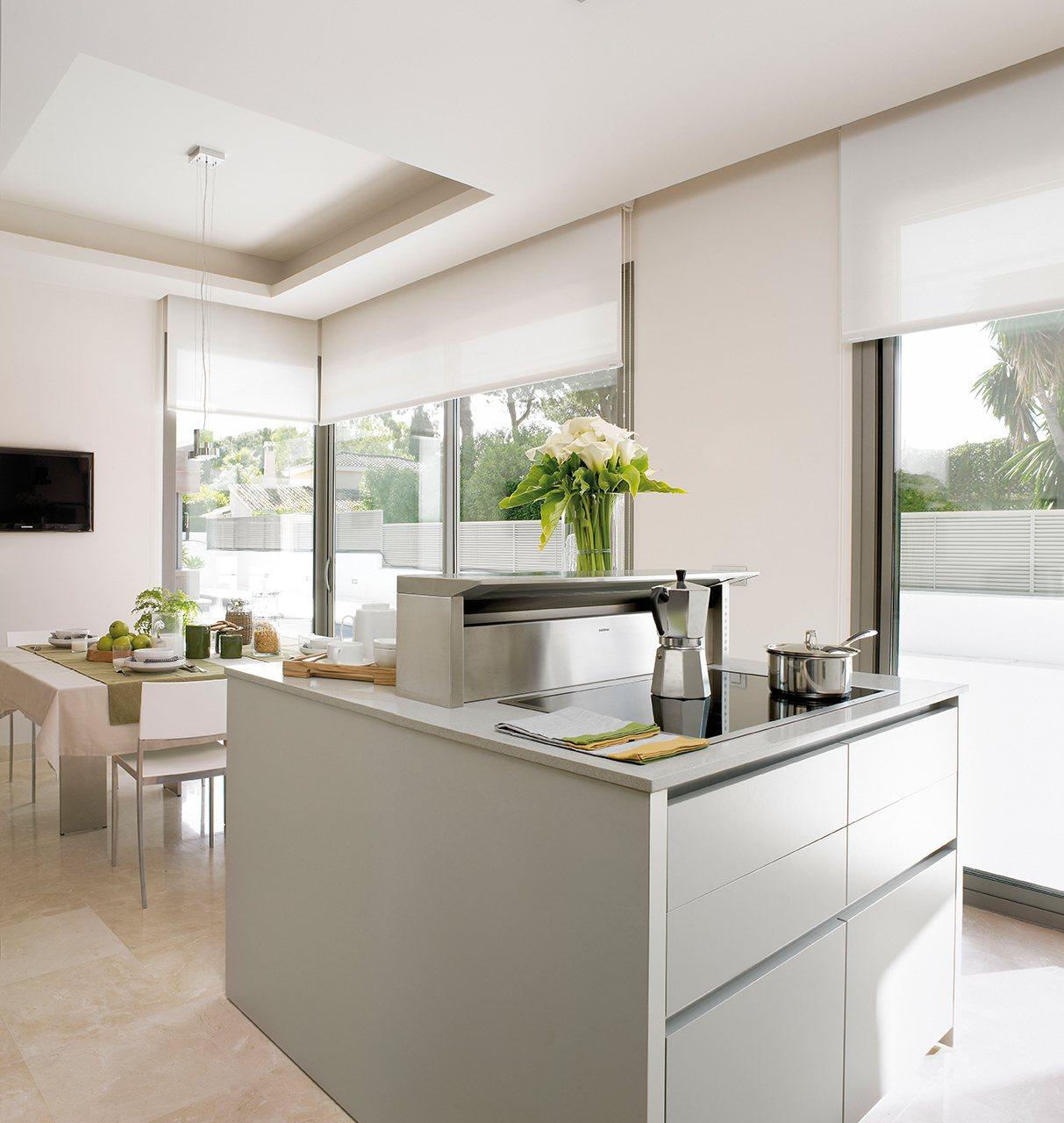 Claves para elegir la campana de tu cocina - Cocina con isla precio ...