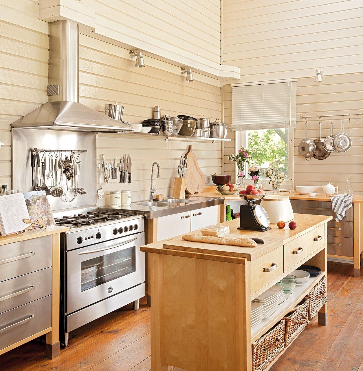 Vacaciones en la caba a for Islas de madera para cocina