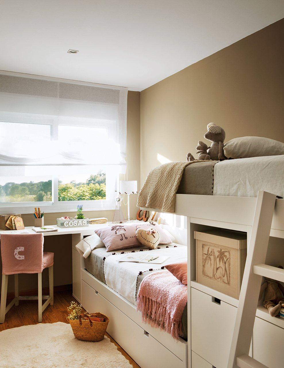 Habitaciones de ni os en pocos metros for Dormitorios con literas
