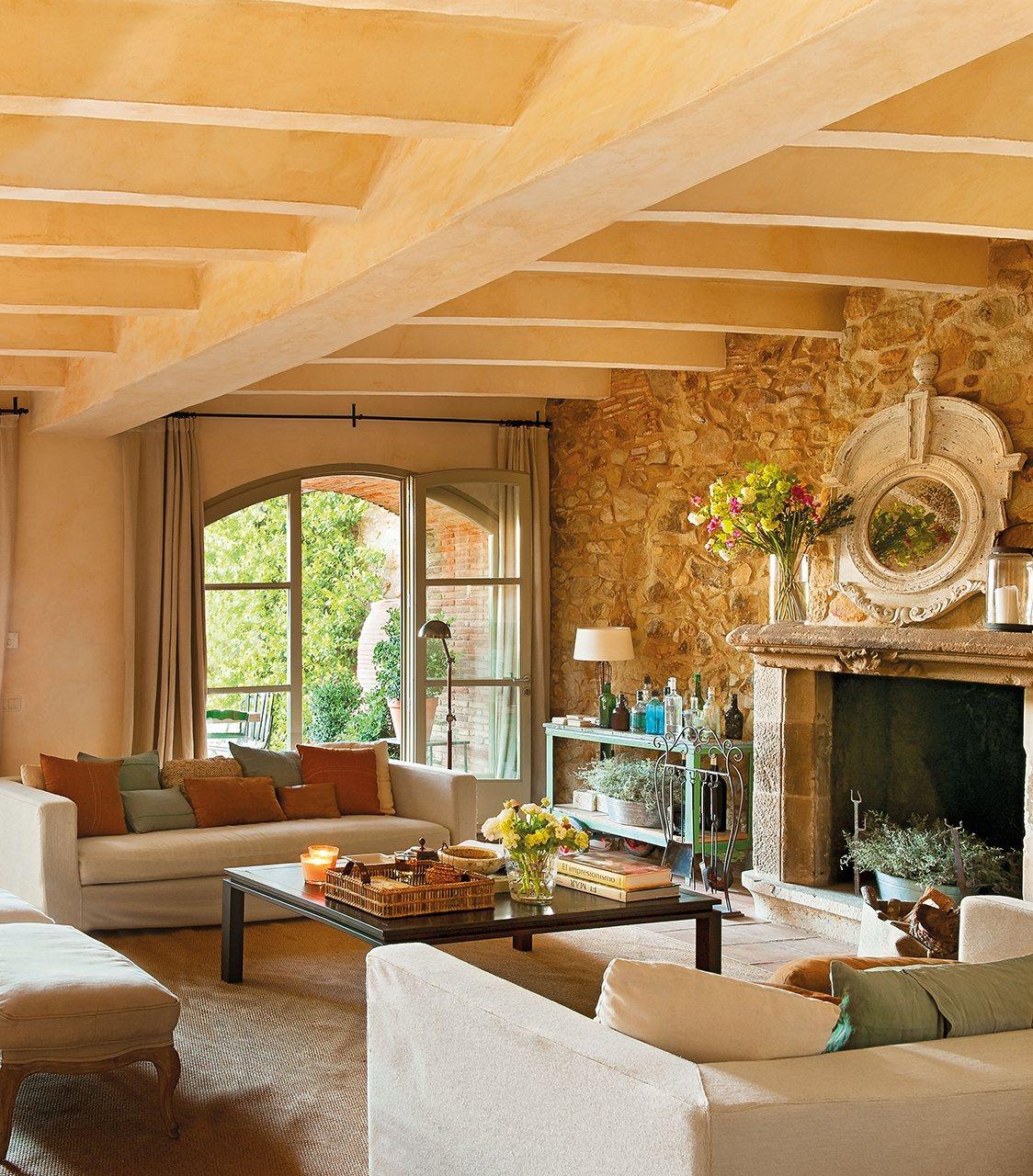 20 salones para inspirarte for El mueble rustico