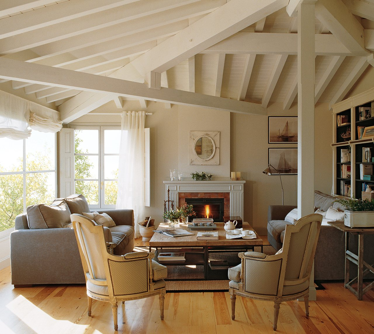 20 salones para inspirarte - El mueble chimeneas ...