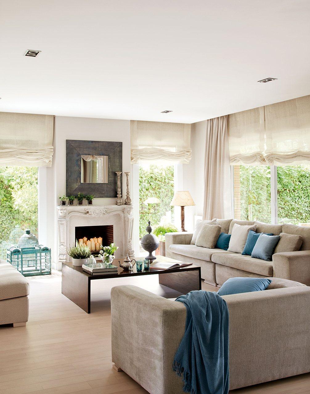 20 salones para inspirarte - Decoracion de suelos interiores ...