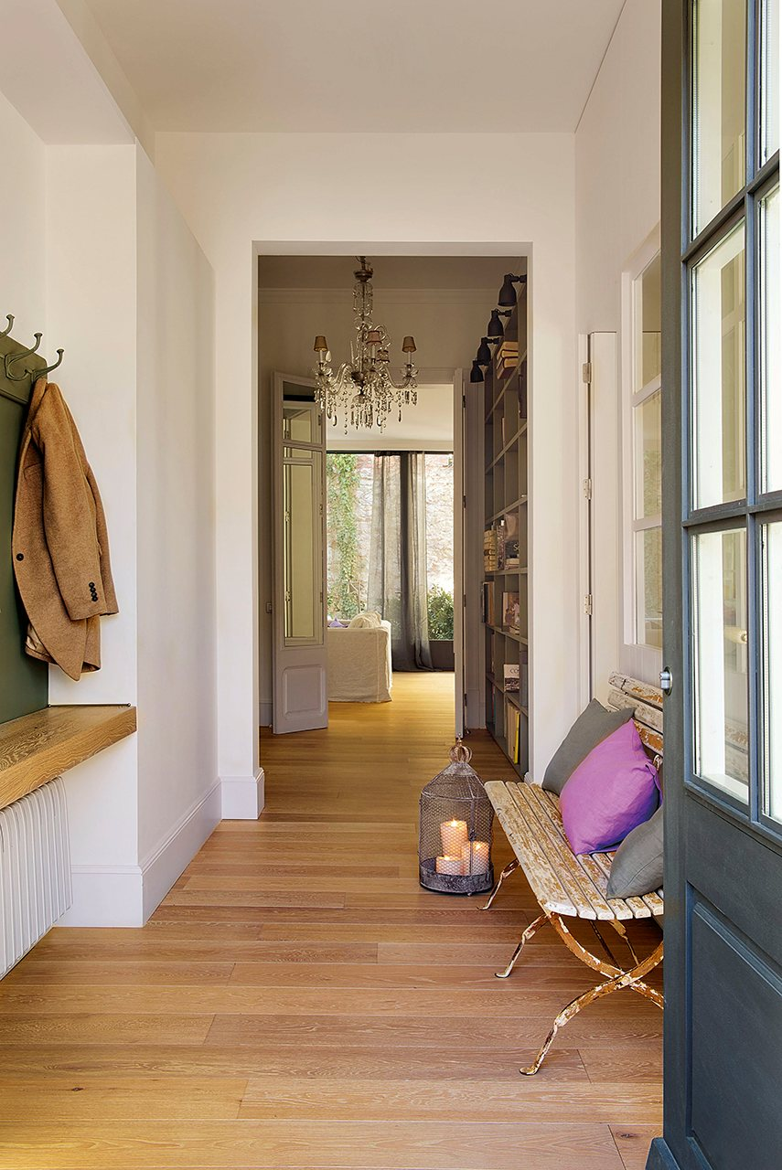 Ideas para la decoraci n de una entrada de casa - Salon sin puerta ...