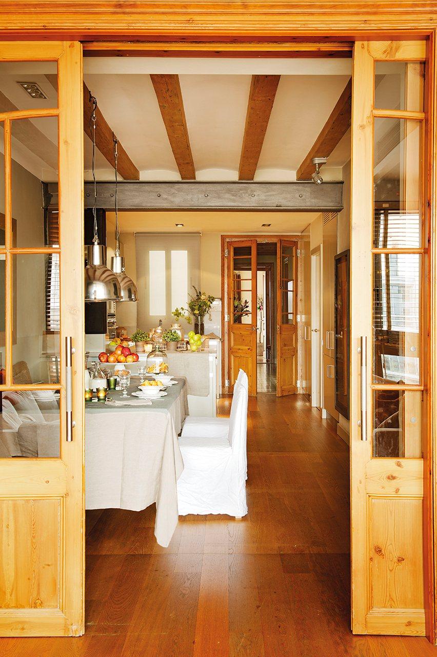 El piso que reconquist con su belleza interior - Puertas para comedor ...