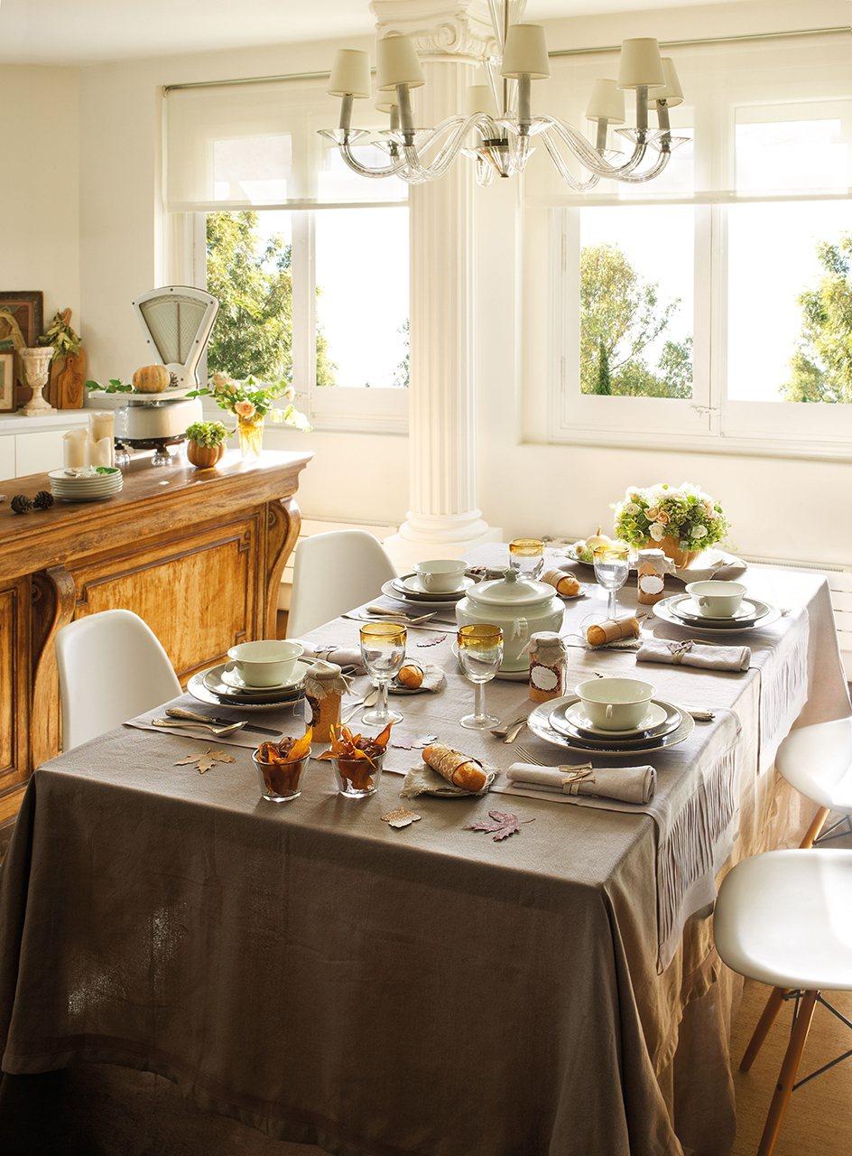 C mo decorar una fiesta en oto o - Mantel para mesa exterior ...