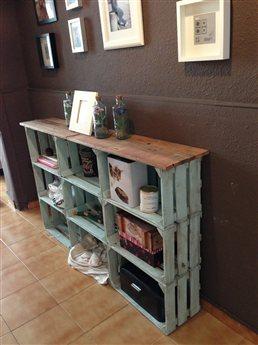 un poquito de pintura y washi tape bastan para este organizador de escritorio del blog 5 centimetros - Cajas De Frutas