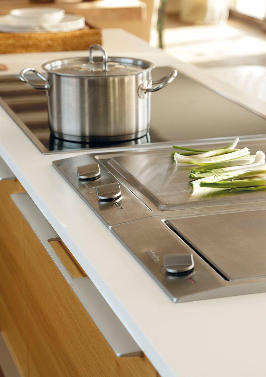 Plancha integrada encimera cocina top freidora with - Cocinas con plancha incorporada ...