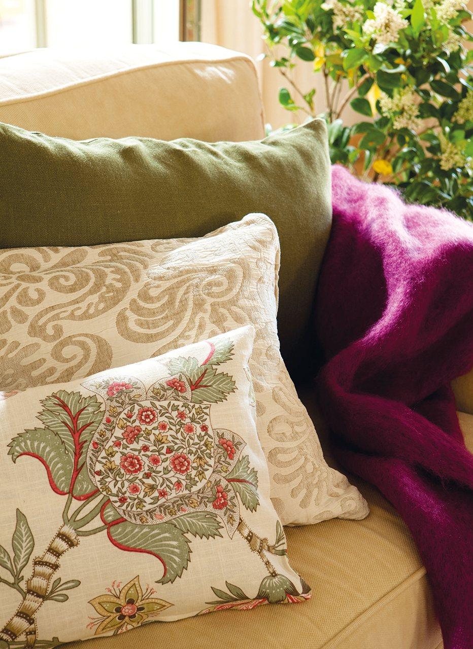 Set de cojines estampados florales Cortinas Martin