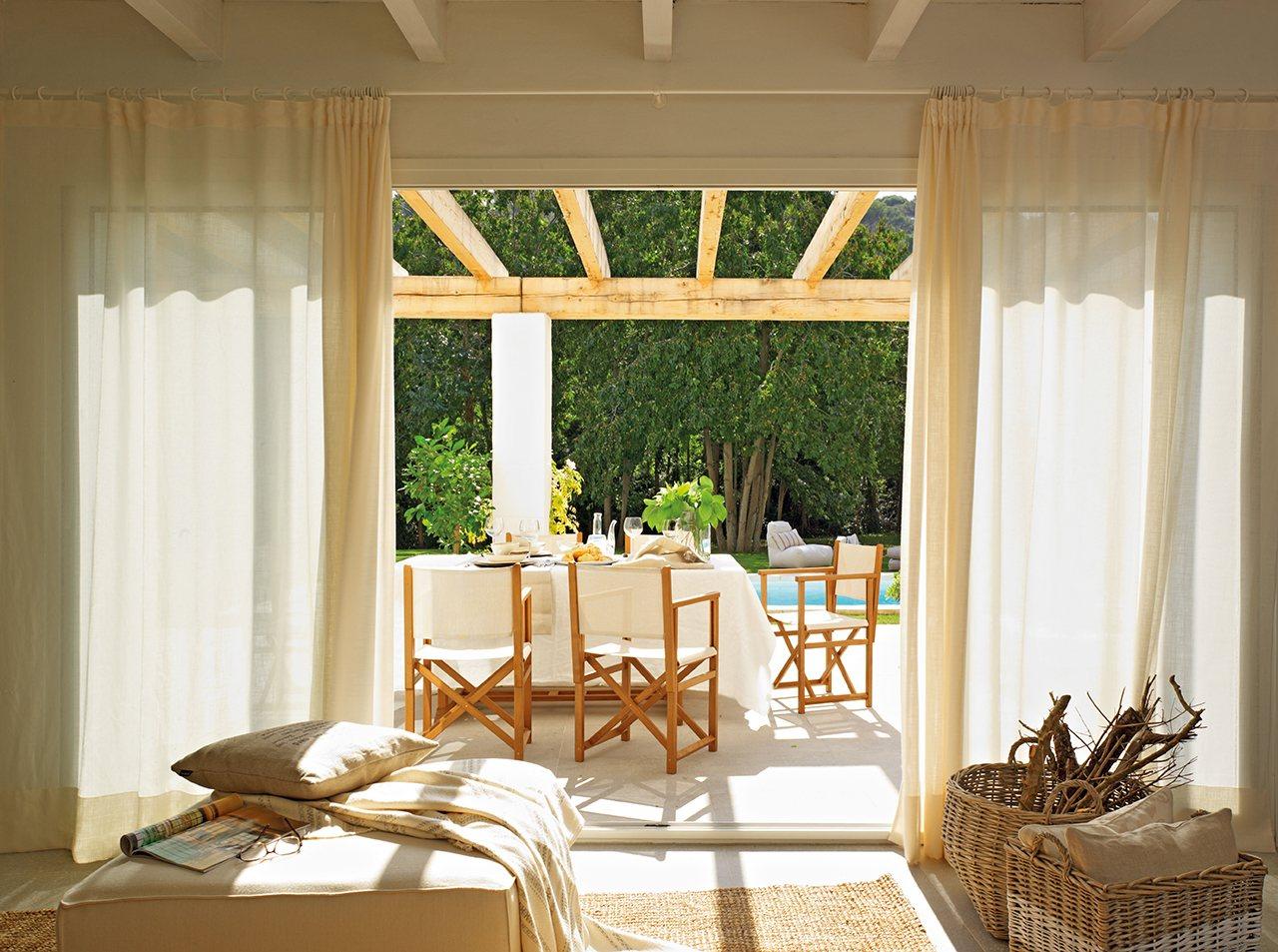C mo elegir telas para las cortinas del sal n - Cortinas de salon clasicas ...