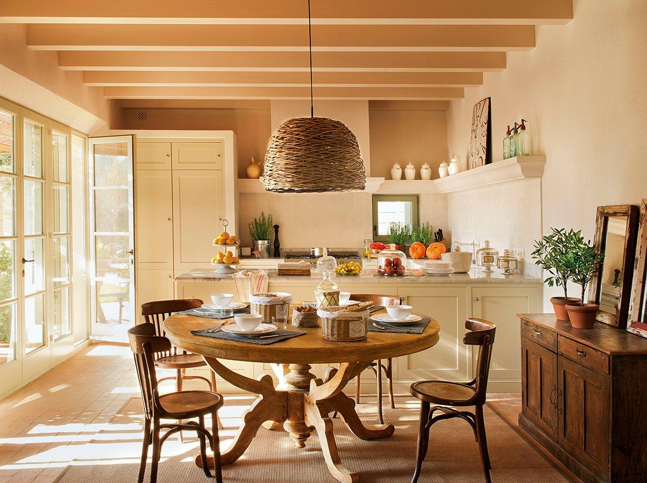 Haz que tu casa crezca - Mesa de cocina redonda ...