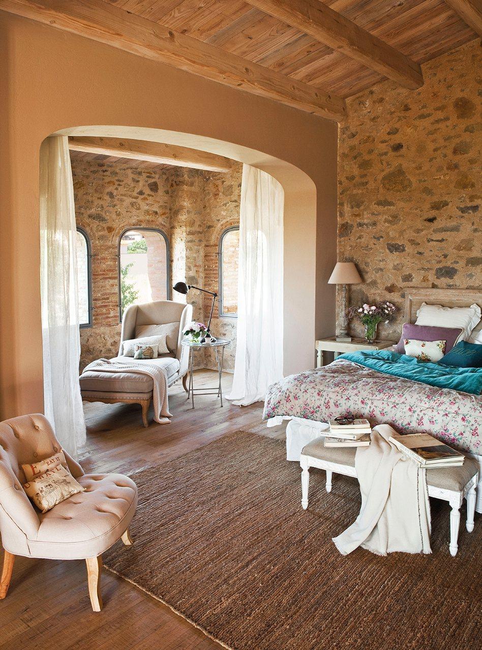 Los 10 dormitorios m s bonitos del a o - Color piedra paredes ...