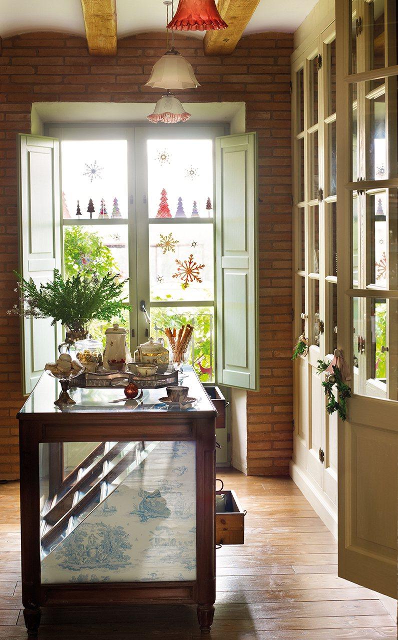 La navidad en una antigua casa de labranza reformada for Casa de navidad cocina con sara