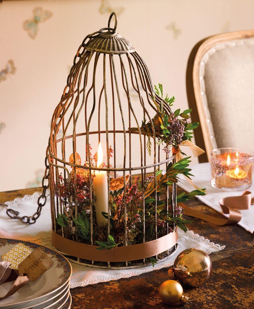 La navidad en una antigua casa de labranza reformada - Jaulas decorativas zara home ...