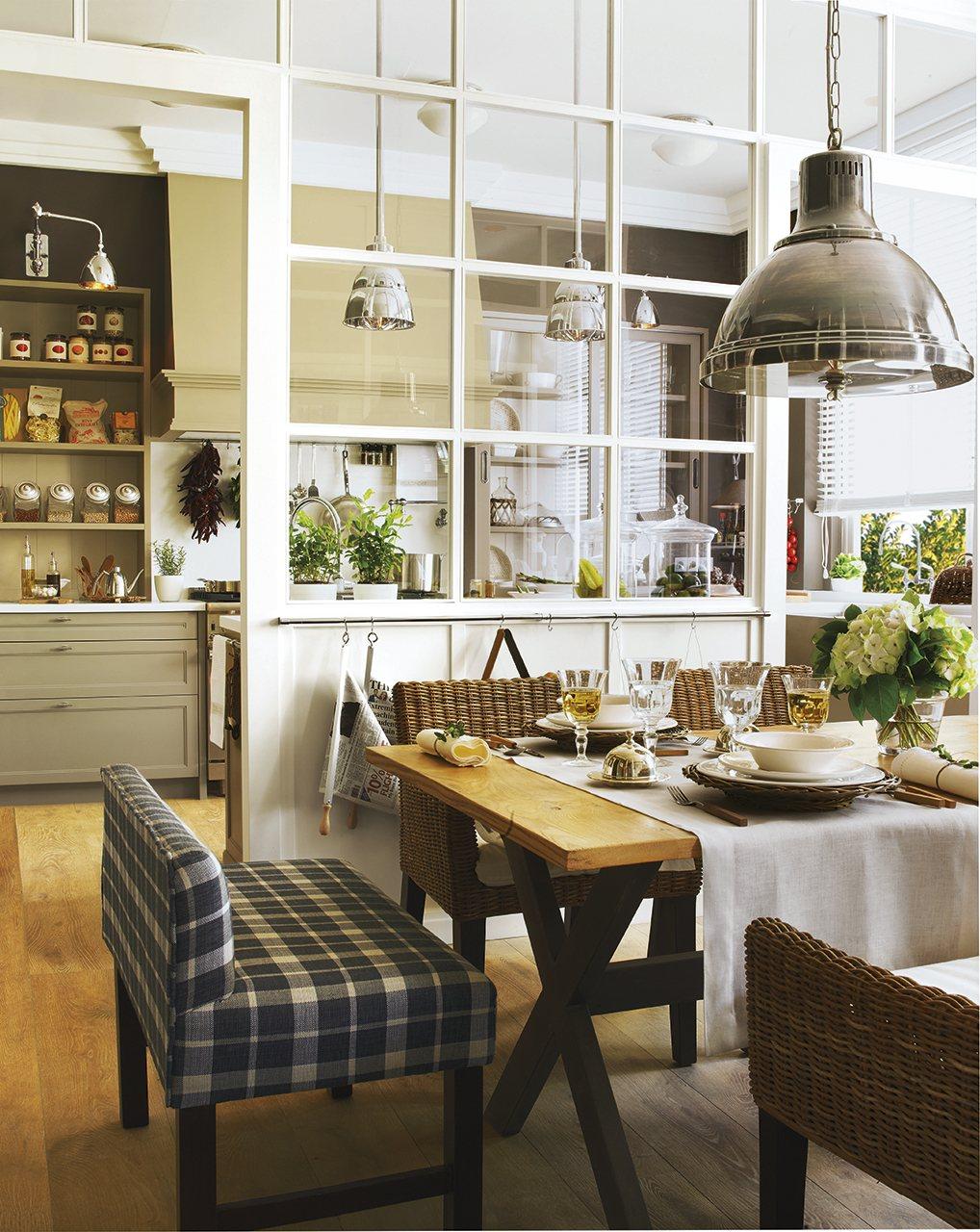Fantástico Cocina Tapizada Bancos De Muebles Ideas - Muebles Para ...