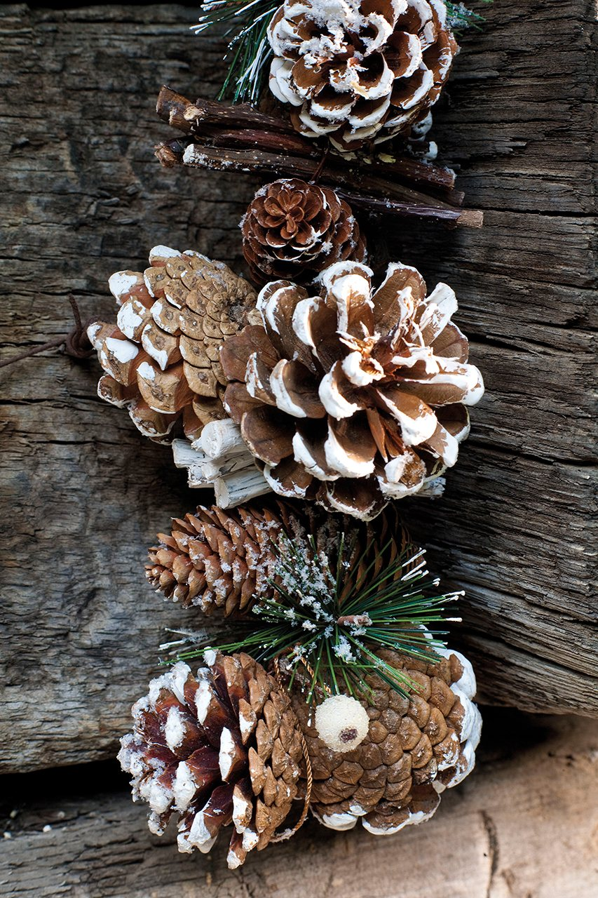Una navidad con toque r stico - Adornos navidad con pinas ...