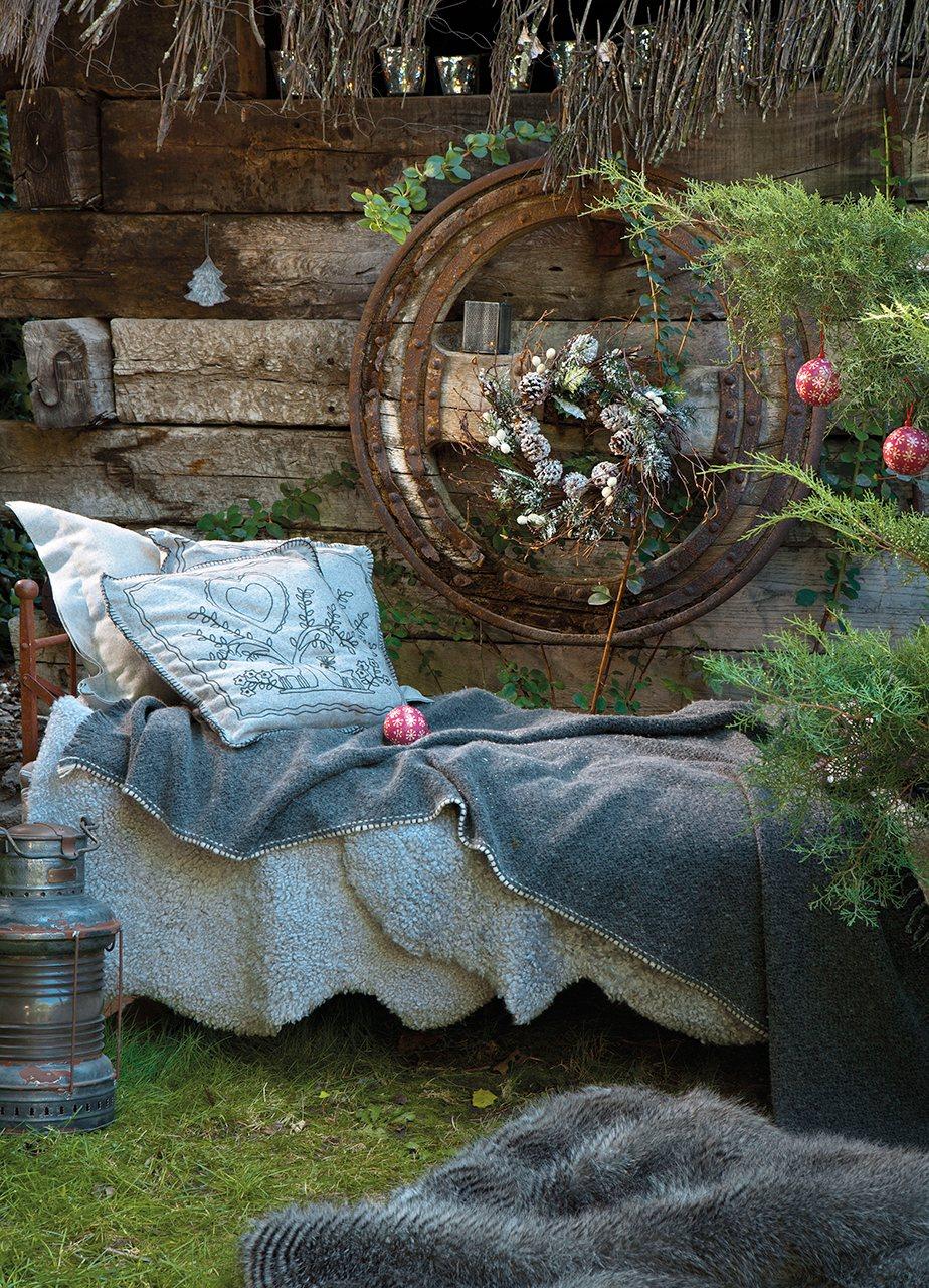 Una navidad con toque r stico for Mantas sofa carrefour