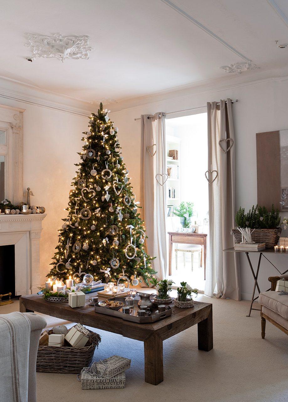 Los mejores trucos para recibir en navidad - Salones decorados para navidad ...