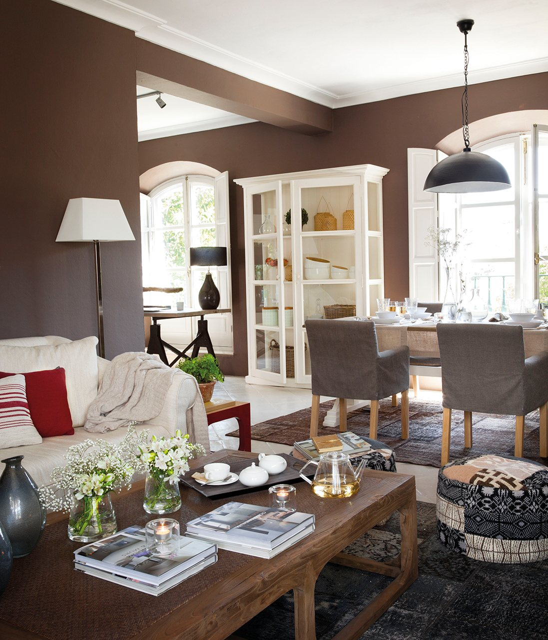 Las mejores ideas para pintar la casa for Comedor gris y blanco