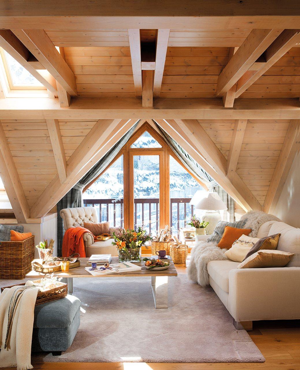 C mo crear un espacio relajado y c lido para una casita de - Tragaluces para tejados ...