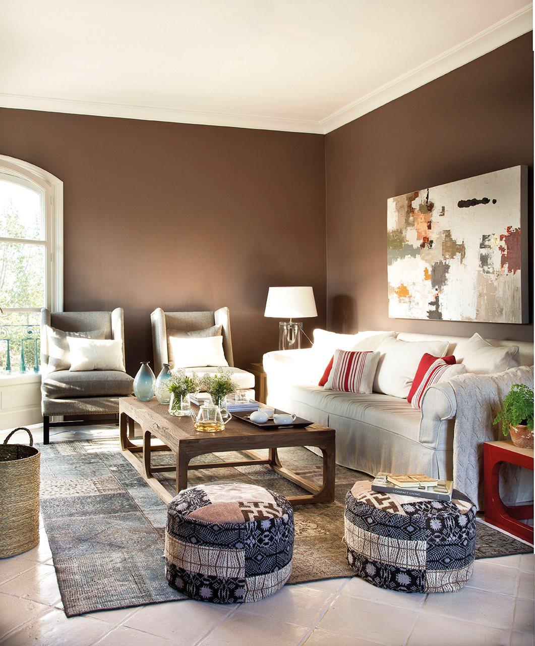 12 buenas ideas para decorar el sal n con estilo - De que color pinto el salon ...