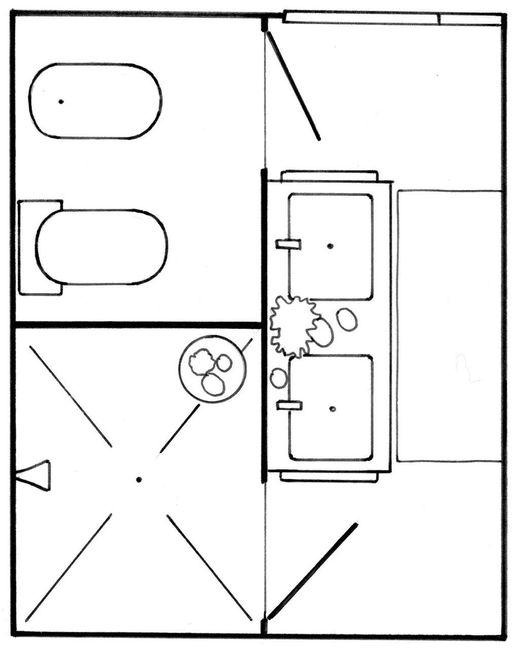 Baños Medidas Planos:planos baños pequeños