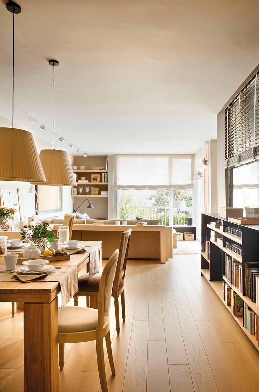 Un piso práctico y versátil con muchos espacios de almacenaje