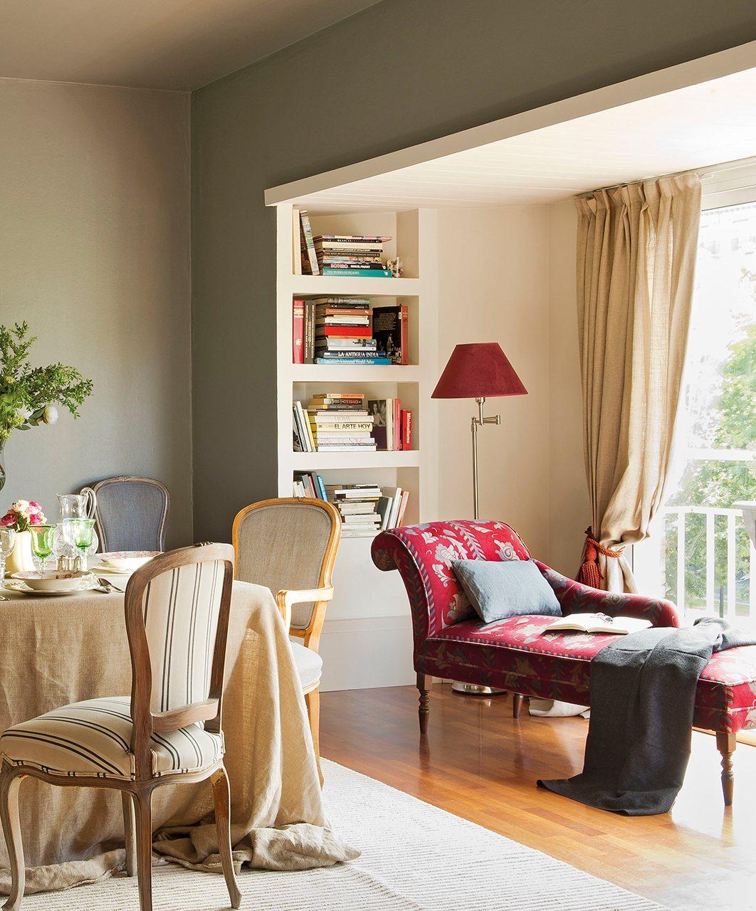 Como disimular una columna en el salon - Como decorar una columna en el salon ...